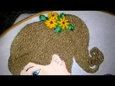 bordando bailarina margarita con la maestra mari luna parte final - YouTube Embroidery Stitches, Hand Embroidery, Embroidery Designs, Crochet Borders, Punch Needle, Crochet Dolls, Winter Hats, Make It Yourself, Sewing
