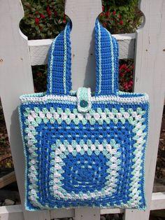 Hey, I found this really awesome Etsy listing at https://www.etsy.com/listing/232247544/crochet-tote-bag-blue-skies-medium-blue