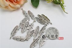 5-10-30-Pcs-Retro-Delicate-Feather-Charm-Alloy-Pendant-DIY-Jewelry-Findings