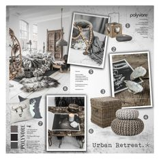"""Urban Retreat"" by nyrvelli ❤ liked on Polyvore featuring interior, interiors, interior design, home, home decor, interior decorating, Williams-Sonoma, Dot & Bo, vintage and WOOD"