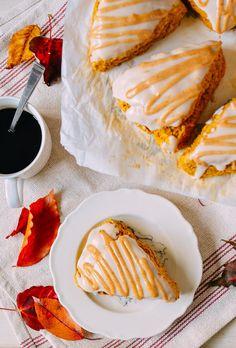 #Glazed #Pumpkin #Scones recipe by thewoksoflife.com