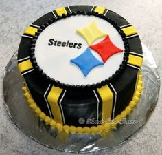 Steelers Birthday Cake. Tara, I bet you could pull this off