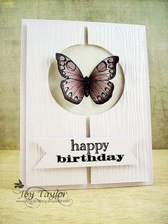 Less is More. simple butterfly card
