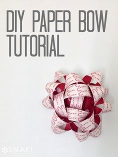 How to make a paper bow out of scrapbook paper. #Christmas #giftwrap