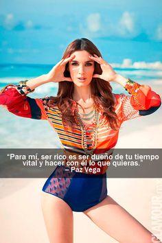 Las frases más glamorosas de las it girls que protagonizaron nuestra portada Paz Vega, en la edición de Agosto 2012.