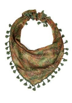 Pine of the Times Scarf. This pine-green scarf accents your look in a way thats now and forever in style. #green #modcloth