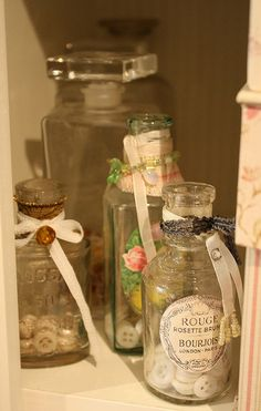 Vintage perfume bottles by Betty, via Flickr
