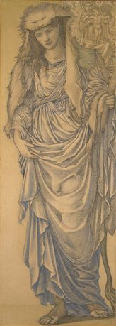 Burne-Jones, The Tiburtine Sibyl (1875, BMAG).  There is a watercolour of this work, although that is in a private collection.
