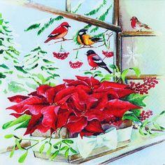 3144 Servilleta decorada Navidad