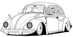 volkswagen new beetle coloring page classic vw beetle car sheet Volkswagen New Beetle, Volkswagen Karmann Ghia, Beetle Car, Car Drawing Pencil, Beetle Drawing, Cool Car Drawings, Cars Coloring Pages, Vw Cars, Car Sketch