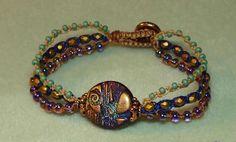 bead macrame patterns | Triple Beaded Macrame Bracelet