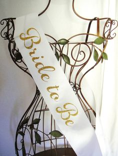 Sparkle Bride to Be Sash Gold or Silver by regalribbons on Etsy