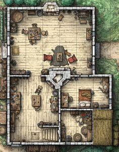 D&d Cabin Battle Map