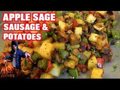 Apple Sage Sausage & Potatoes (Vegan) - YouTube
