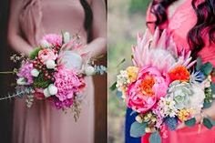 bright floral peony bridal bouquet