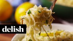 Cheesy Lemon Angel Hair | Delish