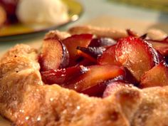 Open-Faced Plum Tart recipe from Sunny Anderson via Food Network