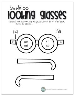 "Print this up on Card stock.  The kids write words with ""oo"" on the glasses."