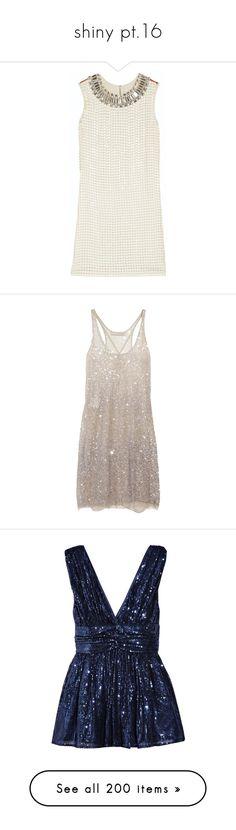 """shiny pt.16"" by bibi-862 ❤ liked on Polyvore featuring mine, Shiny, bibi, tops, tunics, dresses, vestidos, diane von furstenberg, cream and silk top"