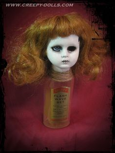 Available now. Creepy doll. http://store01.prostores.com/servlet/creepydolls/the-2215/ooak-gothic-horror-bottle/Detail