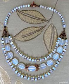 Opal Bead Necklace Design made by Evgeniy Slomintsev from LC.Pandahall.com