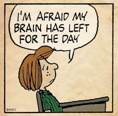 Peppermint Patty at school.