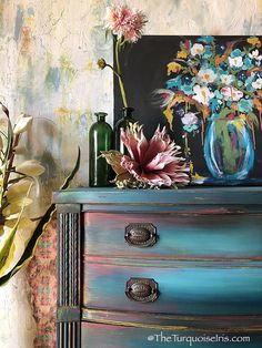 Gorgeous Bohemian Blue Dresser Buffet