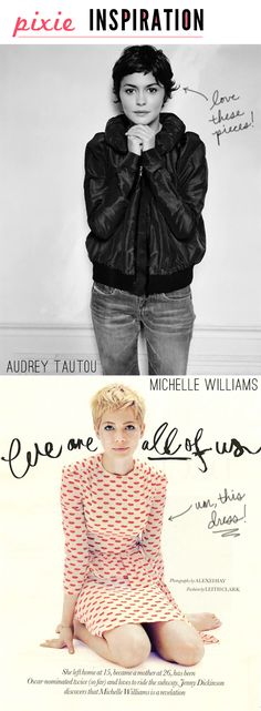 Pixie cut inspiration via Inspired To Share.