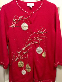 Amazing Vintage Ugly Christmas Sweater by BlueDaisyClassics