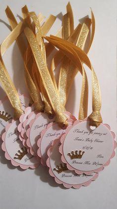 color de rosa y oro brillan etiquetas de bebé ducha favor