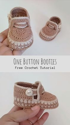 crochet baby boots Want to crochet something cute and useful? Look what we have today for you with free video tutorial. if you have a baby or your friend has a newborn this post is f Crochet Baby Boots, Booties Crochet, Crochet Baby Clothes, Crochet Shoes, Crochet Slippers, Knit Baby Shoes, Newborn Crochet, Baby Booties Free Pattern, Baby Shoes Pattern
