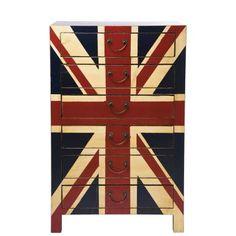LONDON CALLING Kommode mit 6 Schubladen