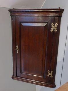 Small antique corner cupboard