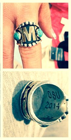 Oklahoma State University...custom class ring! :) thank you HyO Silver
