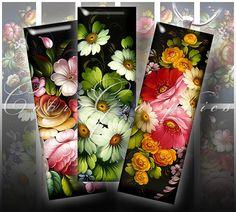Zhostovo Russian Folk Art Digital Collage Sheet by CobraGraphics