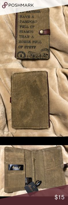Mona B travel wallet Travel wallet with a rustic look that can hold a passport, cards and cash. Accessories Key & Card Holders