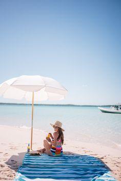 Gal Meets Glam Bahama House, Harbour Island - Mara Hoffman swimsuit, Preston & Olivia hat &  ZanZan sunglasses