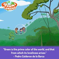 Repin if you are enjoying all of the green colors that Spring has to offer. Then, bubble to the jungle with Gabi and Oliver to collect yummy and disgusting smells for Plum with this webisode: http://pbskids.org/plumlanding/video/jungle.html?guid=68fc9093-b624-47c0-a2ba-5238898ade4c #nature #green #outdoors #family #PBSKIDS #teachers #classroom #parents #activity #conservation #elementary