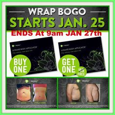 WoWzErS * * BOGO FREE WRAPS * * ARE BACK ✨  ✨ Oh My - YES You HEARD Me RIGHT ✨ For 48 HOURS You Get 8 WRAPS For $59 As A Loyal Customer ✨ LETS Tighten, Tone and Firm in as little as 45 minutes ✨ Message Me or Text BOGO to 757.377.7175 to place your order in!! ✨ Hurry They Will Go Fast - SALE ENDS 01/27 at 9am