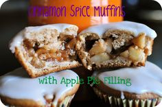 Cinnamon Spice Muffins with Apple Pie Filling