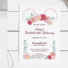 Disney Bachelorette or Bust: Why Every Bride Needs to Go Disneyland Bachelorette Party, Princess Bachelorette Party, Disneyland Birthday, Bachlorette Party, Bachelorette Weekend, Bachelorette Ideas, Disney Wedding Invitations, Hens Party Invitations, Bachelorette Party Invitations