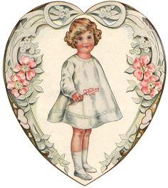 An incredibly extensive range of vintage Paper Dolls! Clip Art Vintage, Images Vintage, Vintage Paper Dolls, Vintage Designs, Victorian Valentines, Vintage Valentine Cards, Vintage Cards, Vintage Postcards, Retro Kids