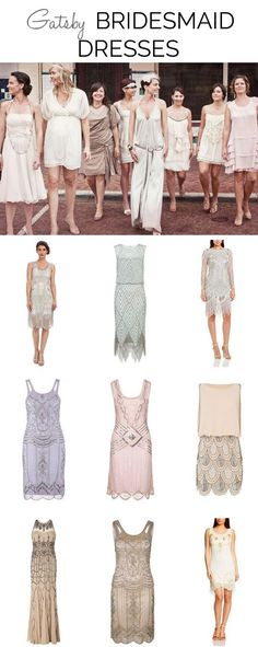 20's dresses bridemaids