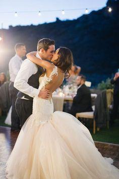 first dance moment. loooove her dress!