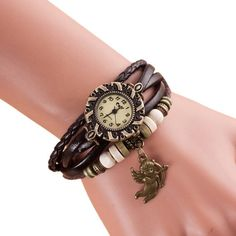 Fashion Montre Femme Womens Watches Quartz Relojes Mujer Weave Around Bracelet Watch Lady Wrist Watches For Women gift #A