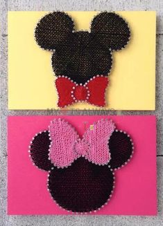 Kid Friendly Theme Custom Made String Art, Micky Mouse and Minnie Disney String Art, Nail String Art, String Crafts, String Wall Art, Resin Crafts, String Art Templates, String Art Patterns, Disney Diy, Disney Crafts