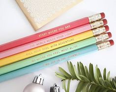 Motivational quote pencils  Christmas stocking filler