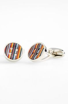 Paul Smith Stripe Button Cuff Links available at #Nordstrom