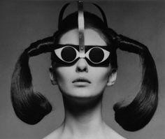 Product. Pierre Cardin 60' glasses. Kính mắt mang phong cách du hành vũ trụ độc đáo kết hợp với kiểu tóc buộ hai bên đối xứng