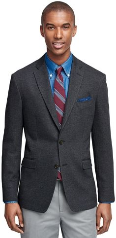 $898, Charcoal Wool Blazer: Brooks Brothers Milano Fit Herringbone Sport Coat. Sold by Brooks Brothers. Click for more info: https://lookastic.com/men/shop_items/292362/redirect